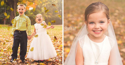 5歲女童一出生「只有半顆心臟」隨時會死,生前最大心願「和好朋友結婚」 拍超美婚紗照圓夢!