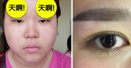 大馬妹花1300元霧眉後超崩潰!「比蠟筆小新還慘的眉毛」網友:妳眉毛怎麼受傷的?