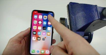 受夠iPhone X的瀏海,他用了3個簡單的步驟「把瀏海剪去」!(影片)