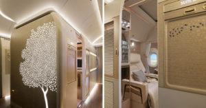 阿聯酋再推「超奢華私人座艙」!座椅採賓士真皮、NASA科技,內有酒吧、電視、虛擬窗戶…坐一次要27萬!