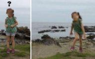 老爸為愛女「海邊拍照留念」,照片洗出驚見「男性老舊軍靴」站女兒身後...但當時只有父女2人啊!(影片)