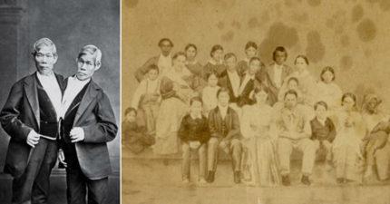 歷史上第一對「連體嬰雙胞胎」彼此共度一生、各自結婚,還育有21個小孩!兩人死的時間不同...