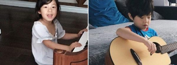 小泡芙早上彈琴叫劉畊宏起床,6歲宇恩哥哥大展琴藝....網友卻只看到「一雙不科學的長腿」