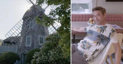 鋼鐵人小勞勃道尼居然住在一個「風車小屋」裡!他親自帶你參觀「內部超溫馨」!