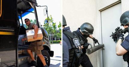 快遞送貨到一半聽到「女子求救聲」,警方破門後看到受害者就傻眼了...