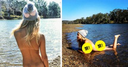 21歲辣妹裸體旅遊「渾圓巨乳+辣臀」狂吸10萬粉絲,她:根本就不色
