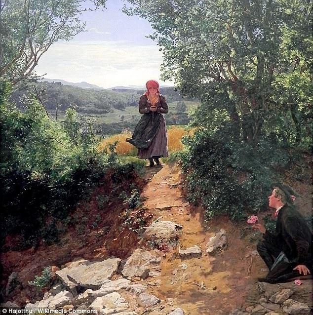 时空再次穿越!19世纪油画出现「拿着iPhone的少女」,「低头走路」和现代人没两样! -464EE41200000578-0-image-m-37_1510600808189