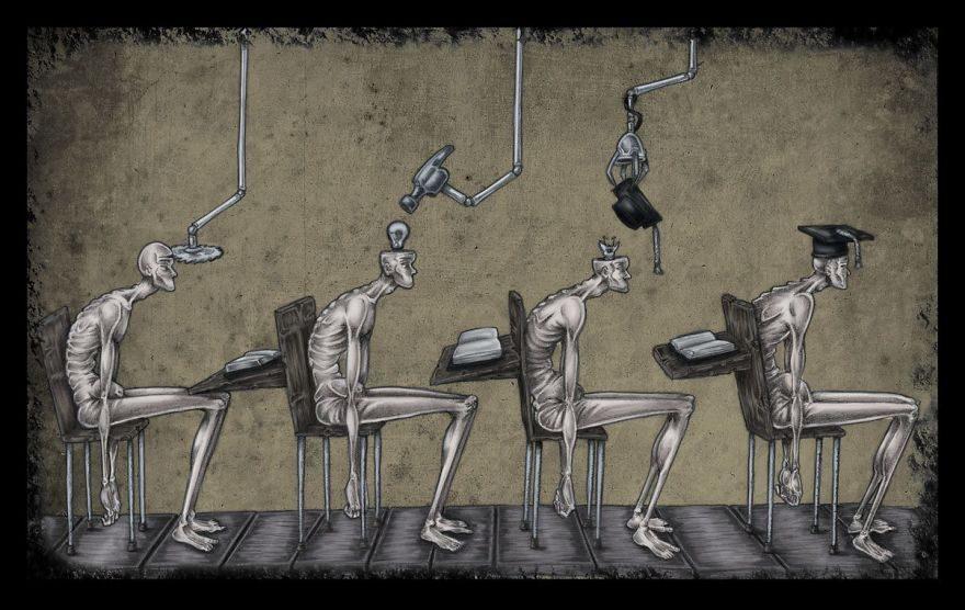 30張反應大家看到不敢說的「現代社會問題」插畫!現代教育毀了我們...