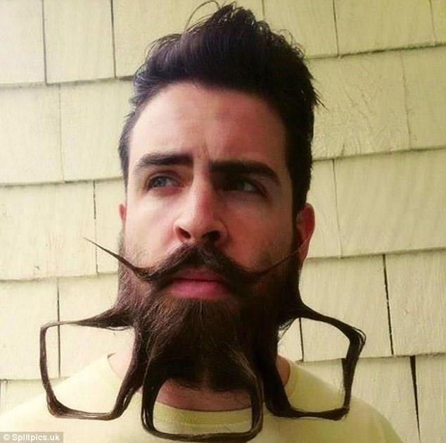 14個讓你不曉得眼睛該往哪看的「超爆笑惡搞鬍子造型」!「用鬍子當碗吃麵」還不是最扯的...