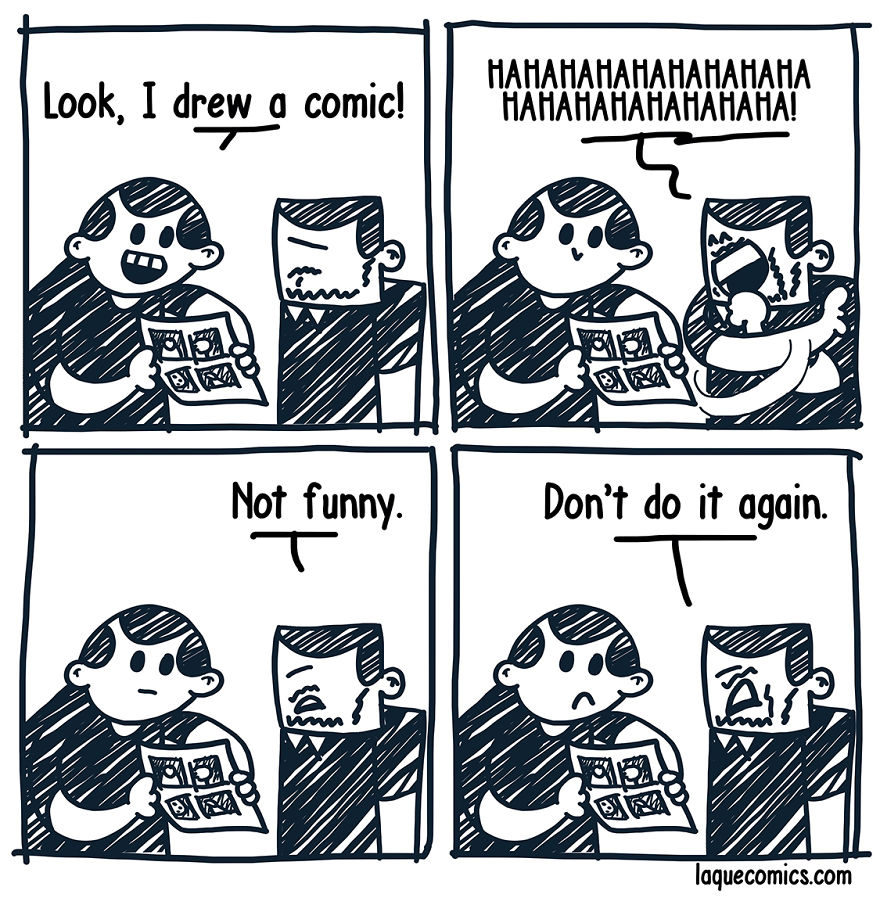 21張只有內心夠黑的人才看得懂的「黑色幽默諷刺四格漫畫」