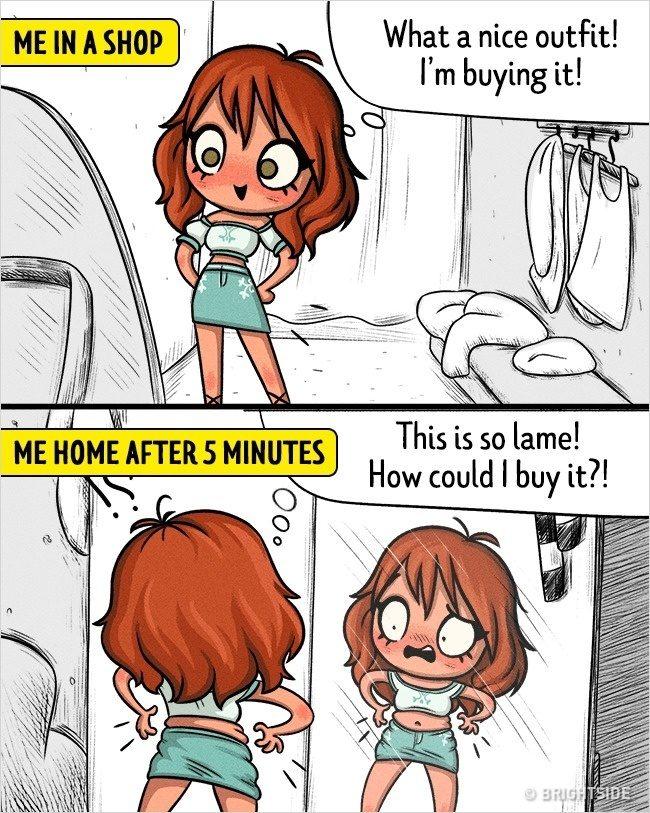 16張讓「所有男生哭著點頭」的女生心理爆炸矛盾插畫 明明不會開車又死愛開!