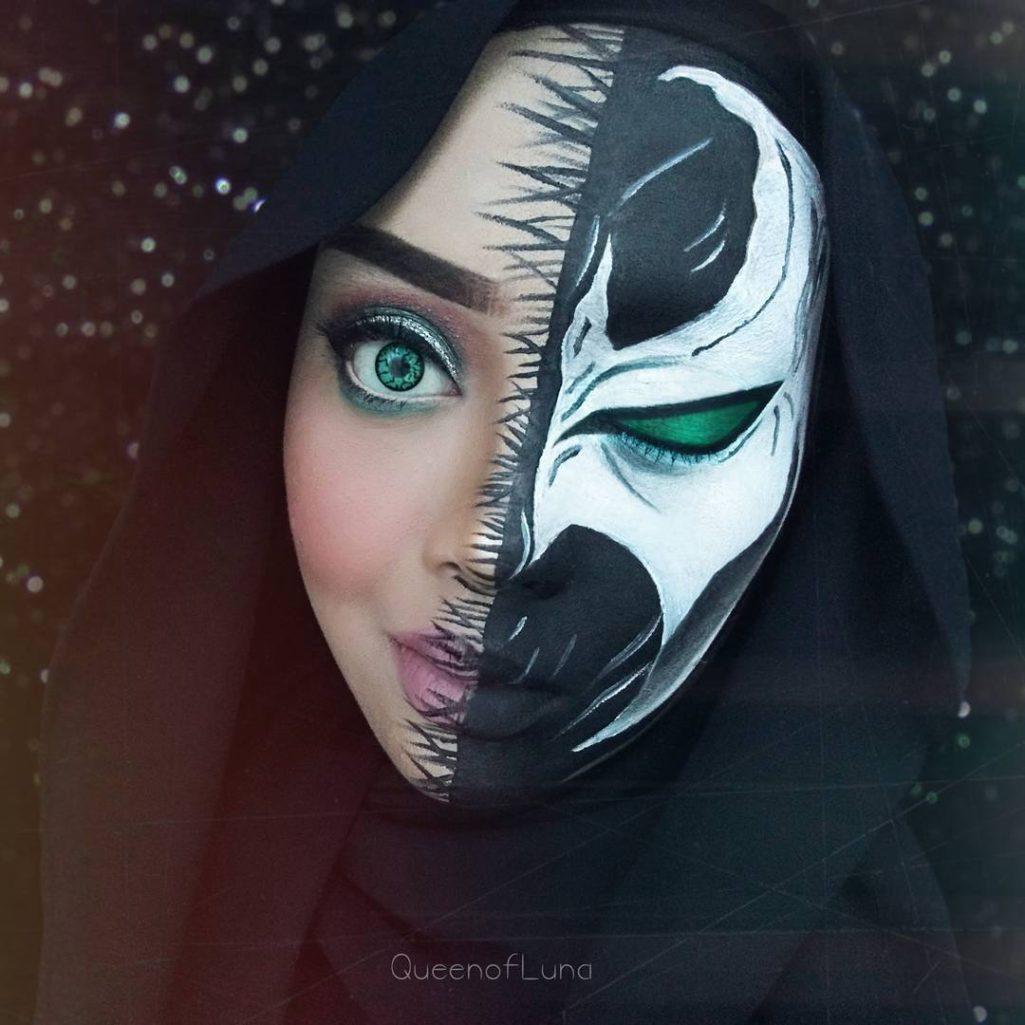 穆斯林正妹神Cosplay「經典知名動漫電影主角」,卸妝模樣更是讓網友驚艷!(16張)