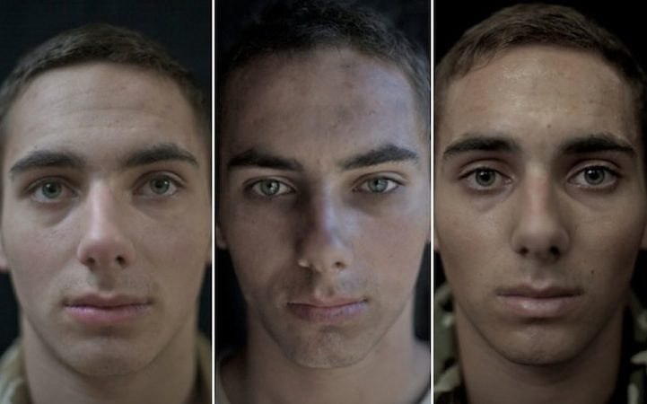 他拍下14名軍人「出征前、中、後」的臉部變化 看出他們內心承受的煎熬