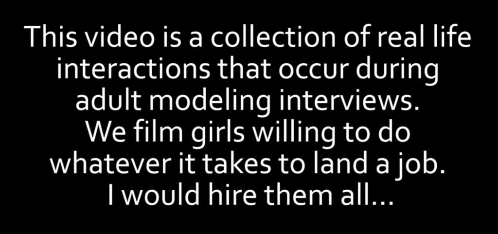 他假扮導演「找色片女星來試鏡」,測試她們為了得到工作可以做到什麼地步!(影片)