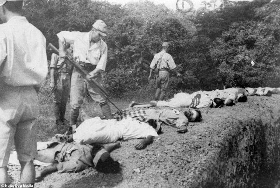13张历史课本没收录的「二战时日军残忍暴行历史照」,把活人当枪靶还不是最恐怖的… -5a0bfb63b67fc