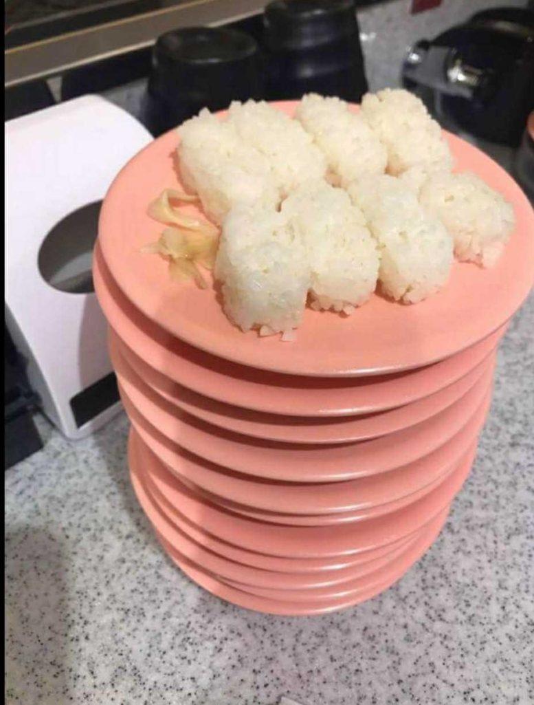 點握壽司只吃料「留下滿滿白飯」!女顧客PO網反批:「浪費食物的是店家」引爆網戰!