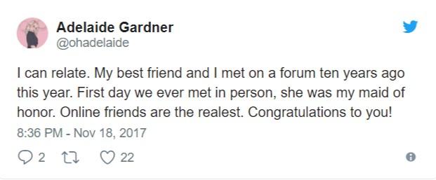 誰說網路沒有真友誼?28歲男找「認識15年」未曾見面的網友當伴郎,兩人一見如故成為現實摯友!