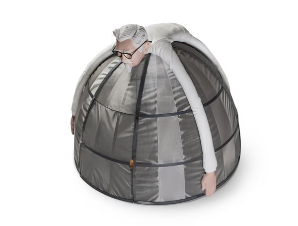 肯德基推出「網路隔離帳棚」能跟世界斷絕,「門把造型超酷」30萬划算啦!