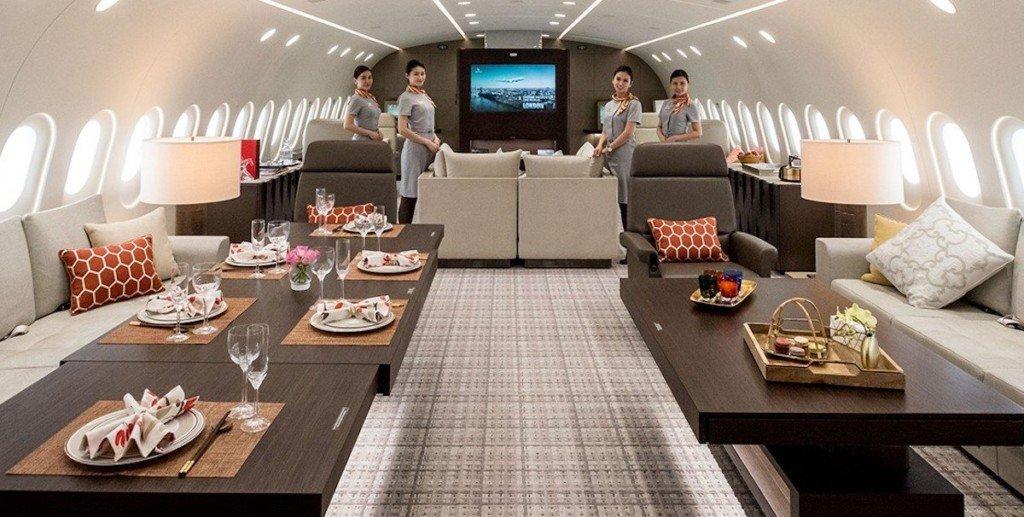 波音「超奢華私人飛機」內部超寬敞現代設施像豪華酒店!壯麗「飛行閣樓」坐1小時要75萬!