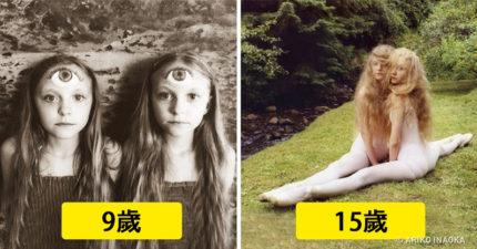攝影師每年都會到冰島拍攝這對「最美雙胞胎姐妹」,紀錄她們從6歲到17歲「女孩變少女」越大越正過程!