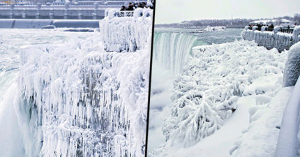 冰河期快開始?!負36度超冷天氣降臨尼加拉瓜大瀑布,「全部結冰」讓人開始擔心全球暖化威脅