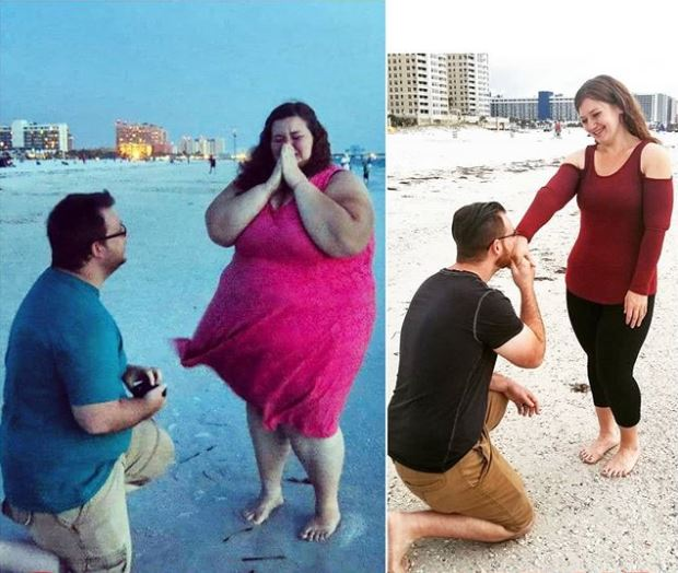 220公斤女每天健身房報到「狠甩136KG」!老公深愛她10年如一日「重溫求婚照」超感動