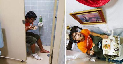 日本人「廁所吃飯文化」背後原因超辛酸!他自我安慰打造「超豪華歐式便所飯」救邊緣人...