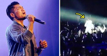 李玖哲演唱會釣到「李聖傑級粉絲」!一拿到麥克風台風超穩健「開金口」,網友:真的不是李聖傑?!(影片)