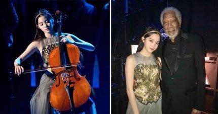 歐陽娜娜被邀請到NASA宴會表演大提琴版《See You Again》震驚摩根費里曼! (影片)