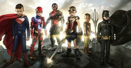 罕見病兒童變身《正義聯盟》超級英雄,跟正牌英雄合照...攝影師:他們才是真正的英雄!(14張)