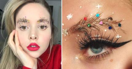 18種會讓你美到冒泡的超時尚「聖誕眉毛」美妝!