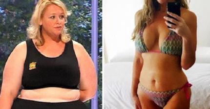 瘦到让人忌妒!120公斤肥大妈摇身一变成性感女郎,双乳没缩水反更「坚挺」!