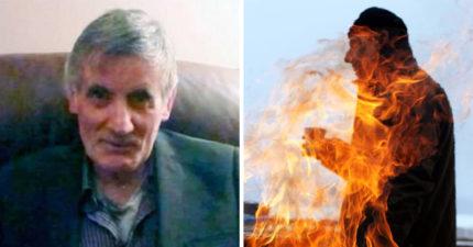 70歲老翁大街上突「驚悚起火自燃」燒成火球慘死!路人目擊:沒有任何火源,憑空著火