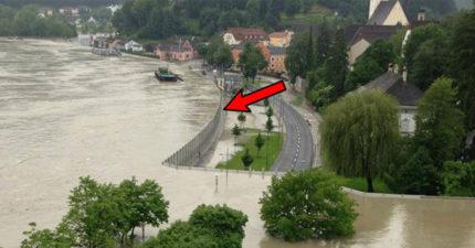國外發明超狂「可移動防洪神器」能完美抵擋4.6公尺洪水!台灣應該馬上跟進!(影片)