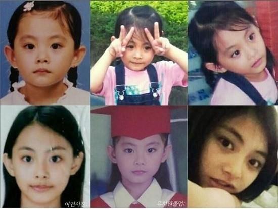 從小美到大!子瑜5歲「綁馬尾比YA童年萌照」首次曝光,加碼TWICE成員童年照...Sana從小就美!