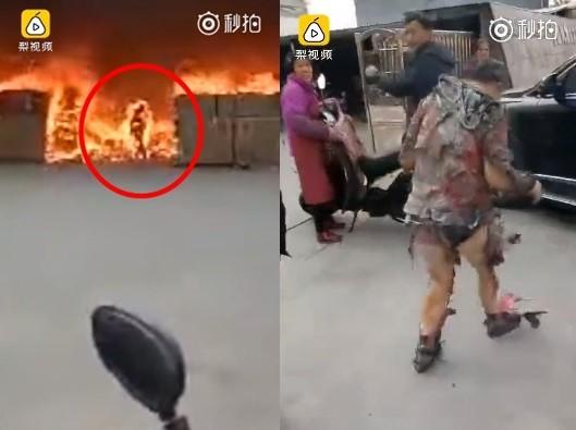 公司火災他第一個衝出火場,又為了手機赴湯蹈火燒成「火球」!網友:至於嘛?