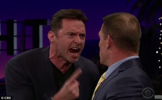休傑克曼怒槓江西南噴到他滿臉都是!紳士形象完全毀於一旦!