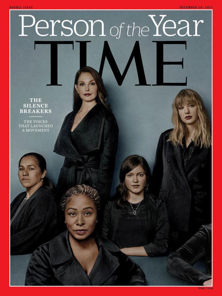 2017《時代》年度風雲人物由「5位性侵受害女性」摘下!「第6隻無名手臂」背後意義深重!