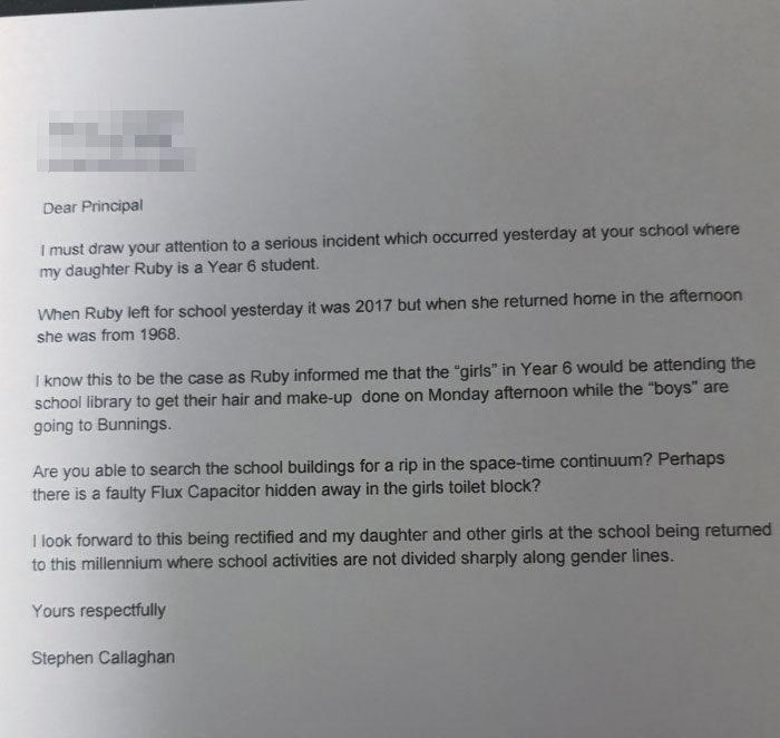 女兒「穿梭時空」從1968年回來,爸爸嚇壞寄信給校長:快點救她!