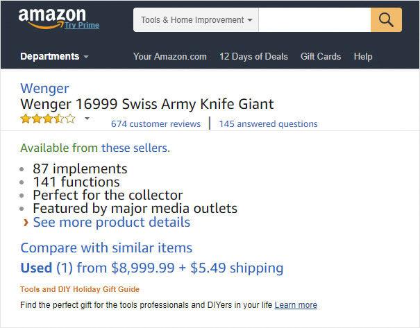 看完「價值27萬的瑞士軍刀」背後網友評價後,了解什麼才叫一分錢一分貨!