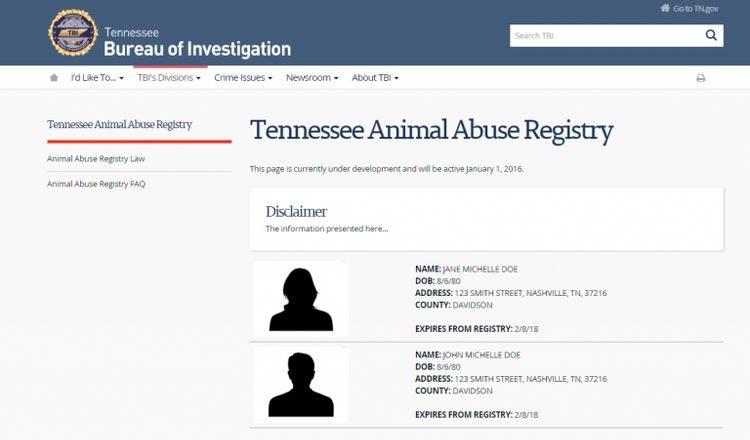 美國設置「虐待動物登記處」公布犯罪者姓名照片供人民查看,台灣需跟進!