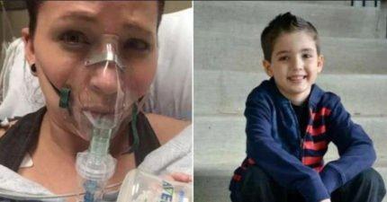 媽媽摀著胸口想睡覺,9歲兒子深感不妙「別睡!」救回媽媽一命!