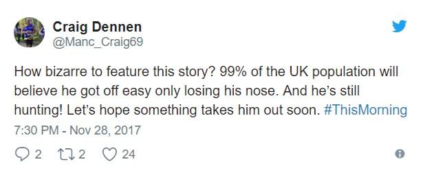 男子意外被熊攻擊「鼻子硬生生扯下來」!網友狂轟:一點都不同情他!