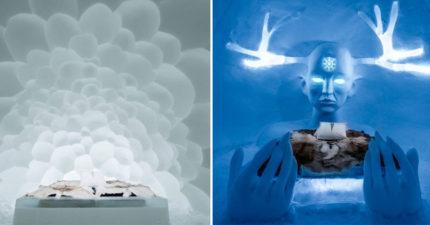 瑞典冬季限定「冰宮飯店」開幕28年,使用「3萬立方公尺冰雪」建造每間主題都不同!