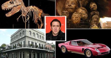 尼可拉斯凱吉超揮霍,買15間豪宅、鬼屋、恐龍頭骨、金字塔墳墓…7年噴光37億面臨破產危機