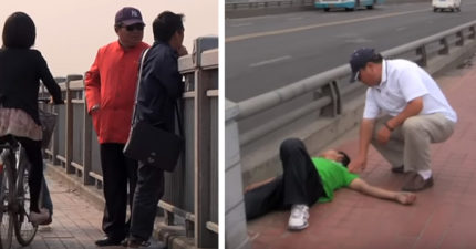 網紅嘲笑自殺死者,但他15年來守在橋邊「拯救330名自殺者」,為救人還跟債主幹上!(影片)