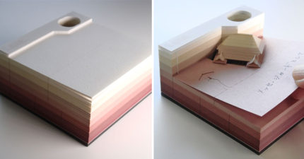 日本超美「紙雕便條紙」每用一張都有驚喜,翻到最後一張「絕美精緻模型」文具控都失控了!