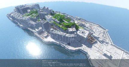神人花9個月在《當個創世神》重現「日本軍艦島」!打造「1:1實地景物精緻細節」網友跪著看!(10張)
