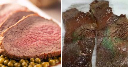 牛肉片上出現「綠綠der」是發霉壞掉?角度一轉就知「金屬光澤真相」!