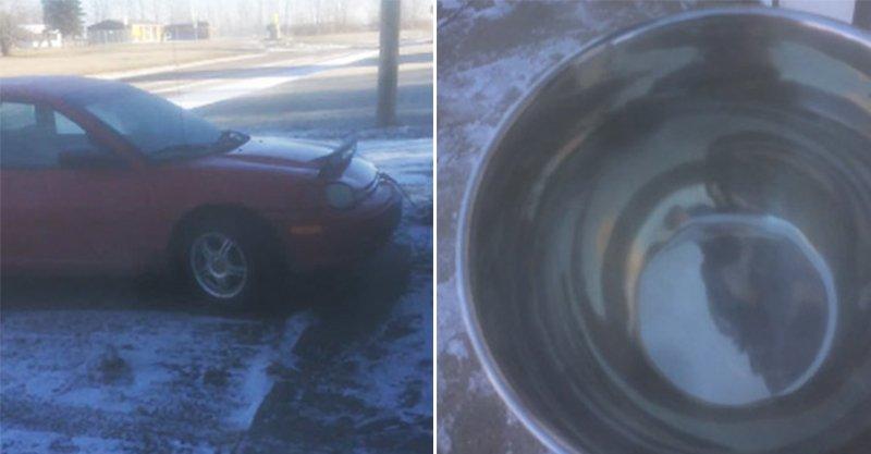 下雪天男子嘗試用熱水潑車窗快速除冰,變成了「千萬不要學」的慘痛片!